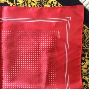 Vintage Accessories - GIFTED ECHO Polka Dot Neck-scarf Square